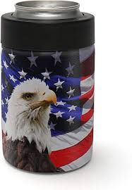 Amazon Com Aretty Usa Bald Eagle Freedom American Flag Vinyl Skin Decal For The Yeti Rambler Colster Colster Not Included Sports Outdoors