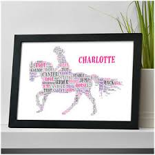 personalised horse riding equestrian