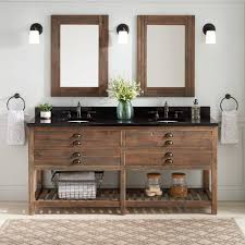 distressed wood bathroom cabinets