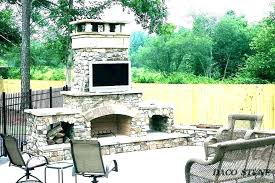 simple outdoor fireplace designs