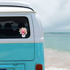Boho Watercolor Flowers Personalized Window Decal Or Bumper Sticker Car Window Decal Vinyl Car Decal Yeti Tumbler Decal Wall Decal Laptop Decal Peel And Stick Vinyl Decals
