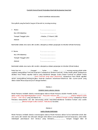 Contoh Format Surat Perjanjian Kontrak Kerjasama Investasi
