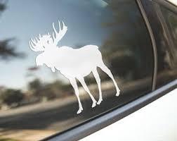 Elk Family Wildlife Vinyl Decal Sticker 6 Tall White Color