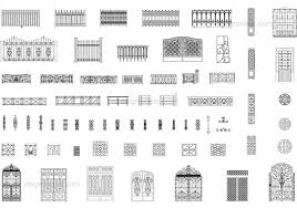 Gates And Fences Dwg Free Cad Blocks Download