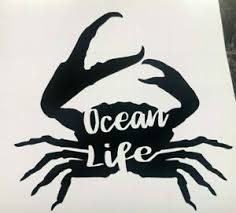 Color Size Choice Ocean Life Crab Water Vinyl Decal Sticker Car Window Cup Ebay