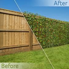 Artificial Hedge Flower Garden Screening Expanding Trellis Privacy Screen 2 X 1m Ebay