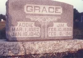 Headstones: Grace, Addie (Adeline Ryan) and Jim (James Nathan) Headstone: A  Family Tribute and Scrapbook Genealogy Website -  www.morethanjustacemetery.com