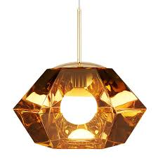 tom dixon cut short pendant gold