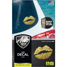 Auto Drive Gold Lips Car Decal Walmart Com Walmart Com
