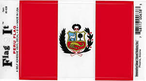 Amazon Com Peru Flag Car Decal Sticker 3 5x5 Red White Everything Else