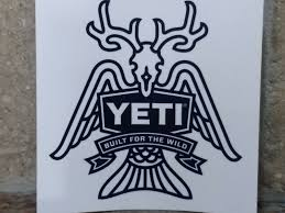 Authentic Yeti Built For The Wild Vinyl Sticker Decal For Sale Online