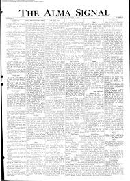 The Alma Signal October 19, 1939: Page 1