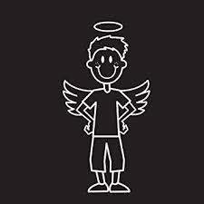 Amazon Com Kalan Family Car Decal Angel Son Automotive