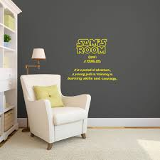 Personalized Star Wars Intro With Child S Name Kids Room Wall Decals Star Wars Kids Room Children Room Boy