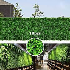 Artificial Boxwood Panels Hedges Faux Grass Shrubs Decorative Garden Fence Covers Privacy Screen Greenery Walls For Outdoor Indoor 26 Sq Feet 10pcs Amazon Ca Patio Lawn Garden