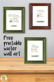 printable winter wall art quotes