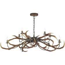large uk made stag anter ceiling light