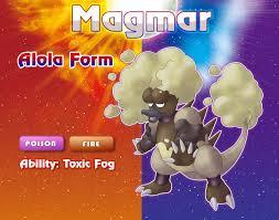 Tried to make a Magmar Alola form! (Based on Hawaii's Volcanic Fog ...