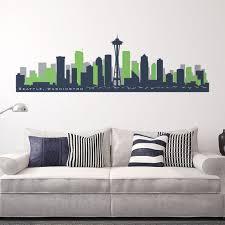 Seattle Washington Skyline Wall Decal Art Vinyl Removable Peel Etsy