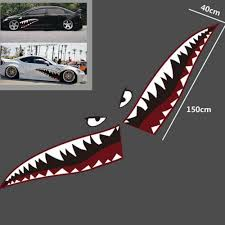 59 Full Size Red Grey Shark Mouth Tooth Teeth Sticker Vinyl Auto Car Cool Refiting Exterior Decal For Side Door Car S Con Imagenes Calcomania Para Auto Fotos Chidas Vinilo