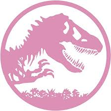 Amazon Com Ruki Jurassic Park Dinosaur The Lost World Wall Decal Vinyl Sticker Game Room Decor 24 X 24 Soft Pink Home Kitchen