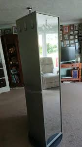 rotating 6ft mirror storage unit in