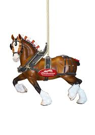 clydesdale horse budweiser molded ornament