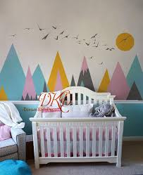 Mountains Decals For Kids Room Mountain Sticker For Nursery Mountain Mural Mountain Wall Mountain Wall Decal Nursery Kids Room Murals Nursery Wall Stickers
