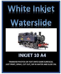 White Inkjet Water Slide Decal Paper Print Your Own Water Transfers Mr Decal Paper
