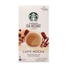 starbucks via instant caffe mocha latte
