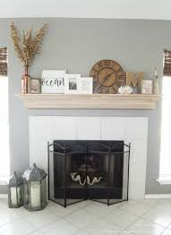 diy fireplace mantel with a driftwood