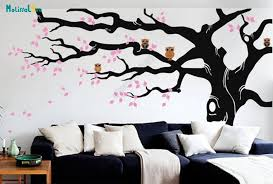 Huge Branch Diy Large Tree Leave And Owl Nursery Wall Decal Baby Room Sticker Kid Room Wallpaper Big Size Home Decor B923 Wall Stickers Aliexpress