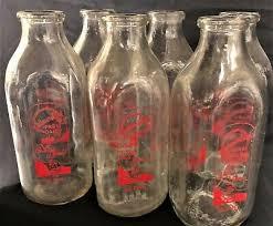 vintage glass milk bottles with lids 6