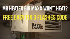 quick fix mr heater big ma won t