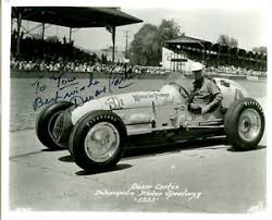 DUANE CARTER Lesovsky / Offenhauser AUTOGRAPHED 1953 INDY 500 8 X 10 PHOTO    eBay