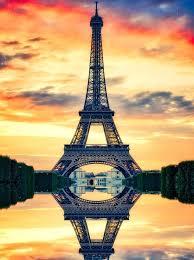 eiffel hd image sunset tower