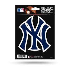 Rico Mlb New York Yankees The Quad 4 Pack Auto Decal Car Sticker Set Sportzzone