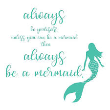 Wallpops Be A Mermaid Peel Stick Wall Decal In Green Bed Bath Beyond