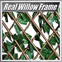 Amazon Com Colourtree Expandable Rectractable Faux Artificial Ivy Trellis Hedge Fence Screen Privacy Screen Wall Screen Commercial Grade 150 Gsm Heavy Duty 3 Years Warranty 2 Double Sided Leaves Garden Outdoor