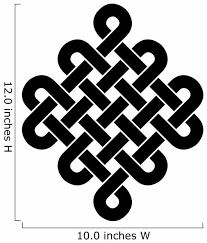 Black Tibetan Endless Knot Wall Decal Wallmonkeys Com