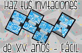 Haz Tus Invitaciones De Xv Anos Muy Facil Fiesta Fabulosa