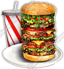 Super Burger Fast Food Soda Hamburger Drink Car Bumper Vinyl Sticker Decal 4 6 For Sale Online Ebay
