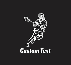 Custom Lacrosse Player Car Decal Free Shipping Etsy