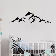 Mountain Wall Decal For Baby Nursery Unique Gift Idea Modern Vinyl Stickers Removable Wall Art Sticker Home Decor Bedroom S441 Mountain Wall Decal Wall Decalsstickers Home Decor Aliexpress