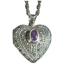 sterling silver 925 puffy heart locket