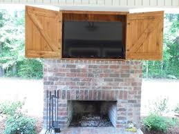 outdoor fireplace tv cabinet