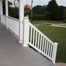 The Harrington Vinyl Stair Railing Kit By Durables Decksdirect