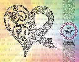 Heart Svg Heart Mandala Heart Zentangle Svg Heart Decal Etsy