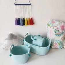 Set Of 3 Cotton Rope Storage Basket Laundry Storage Basket With Ball Organizer For Kid Toy Nursery Hamper Home Accessories Storage Baskets Aliexpress