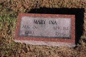 Mary Ina Smith (1910 - 1996) - Genealogy